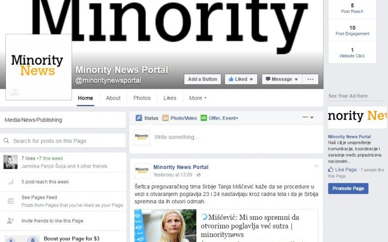 (Srpski) Facebook: Minority News Portal