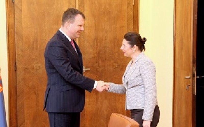 Predsednik Mirović primio predsednicu Nacionalnog saveta bunjevačke nacionalne manjine