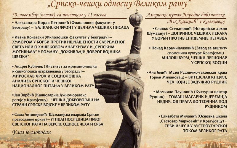 "Naučni skup ""Srpsko-češki odnosi u Velikom ratu"""