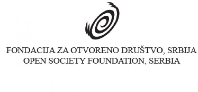 (Srpski) Objavljen konkurs Fondacije za otvoreno za otvoreno društvo, Srbija