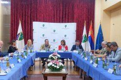 Zoran Pašalić sa predstavnicima nacionalnih saveta nacionalnih manjina u Novom Pazaru