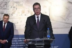 "(Srpski) PREDSEDNIK NAKIĆ NA OTVARANJU IZLOŽBE ""SVETI NOVOMUČENICI JASENOVAČKI U SVETLOSTI VASKRSENJA"""